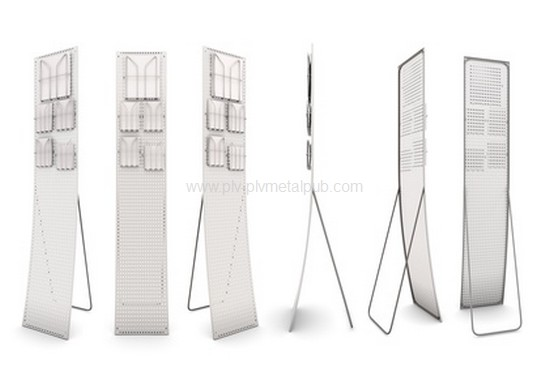 Set promotional stands isolate on white background. 3d illustration.