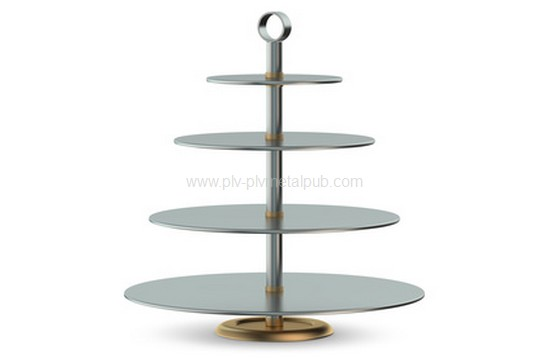 Metallic Cake Stand isolated on white background